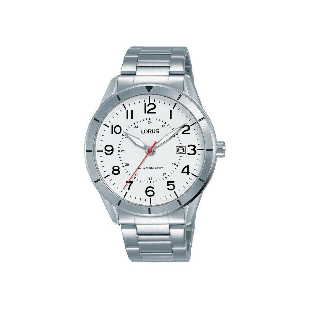 Lorus White Silver Analogue Watch RH935LX-9