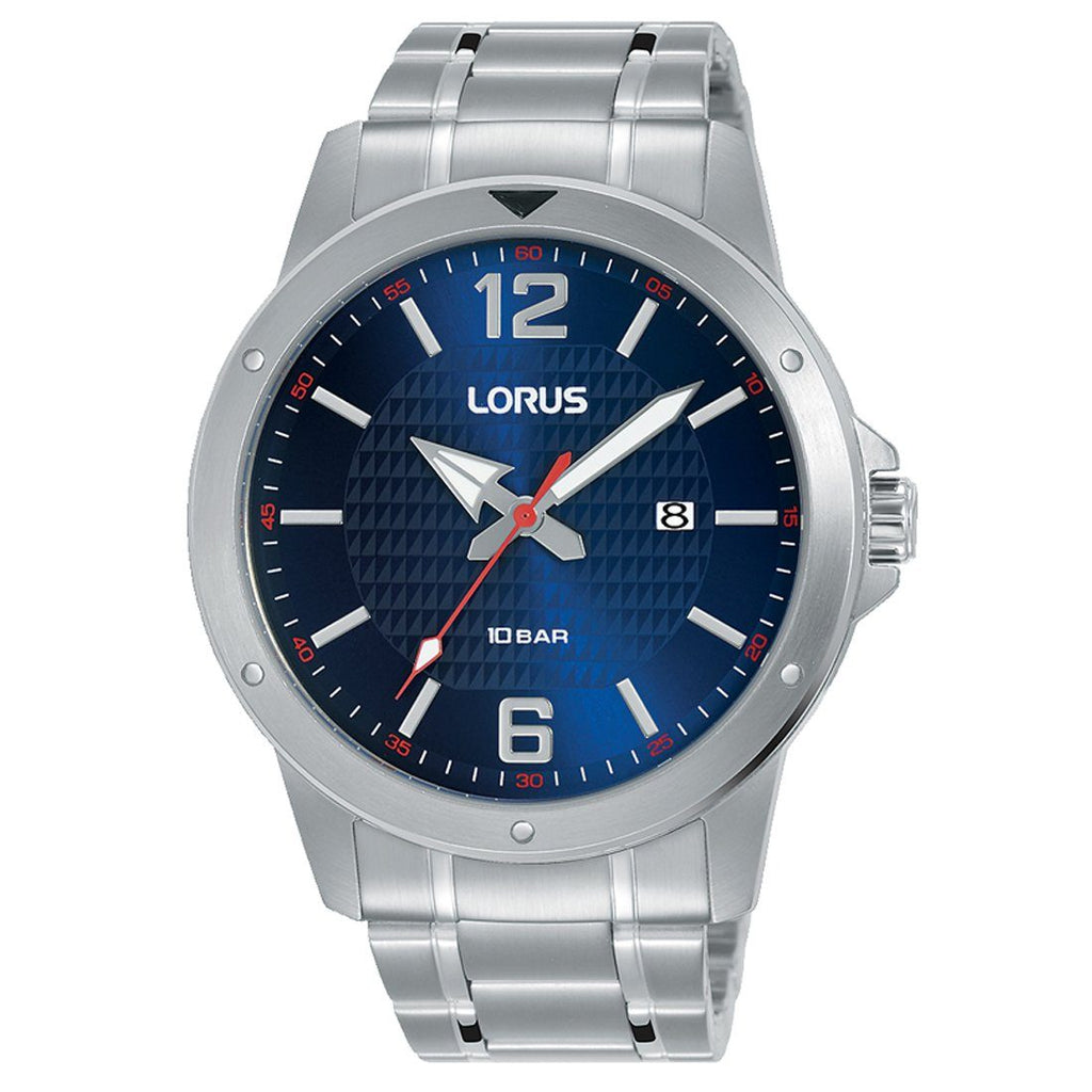 Lorus Mens Blue & Silver Watch RH999LX9