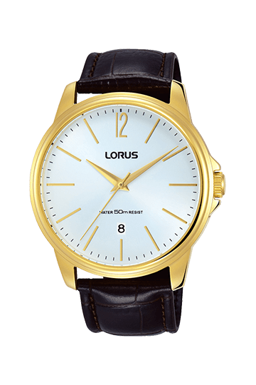 Lorus Gents Black and Gold Watch Model RS912DX-9