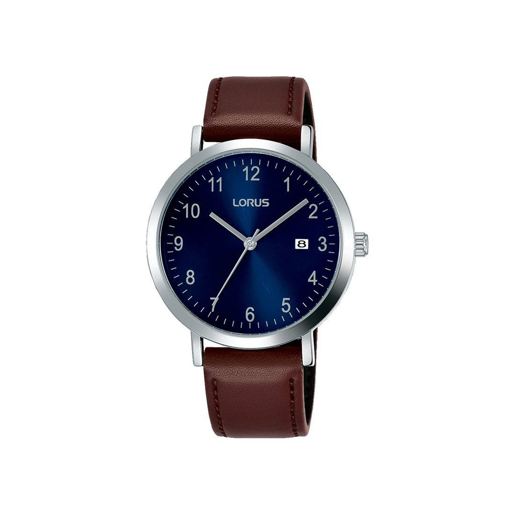 Lorus Blue Brown Analogue Watch RH939JX-9