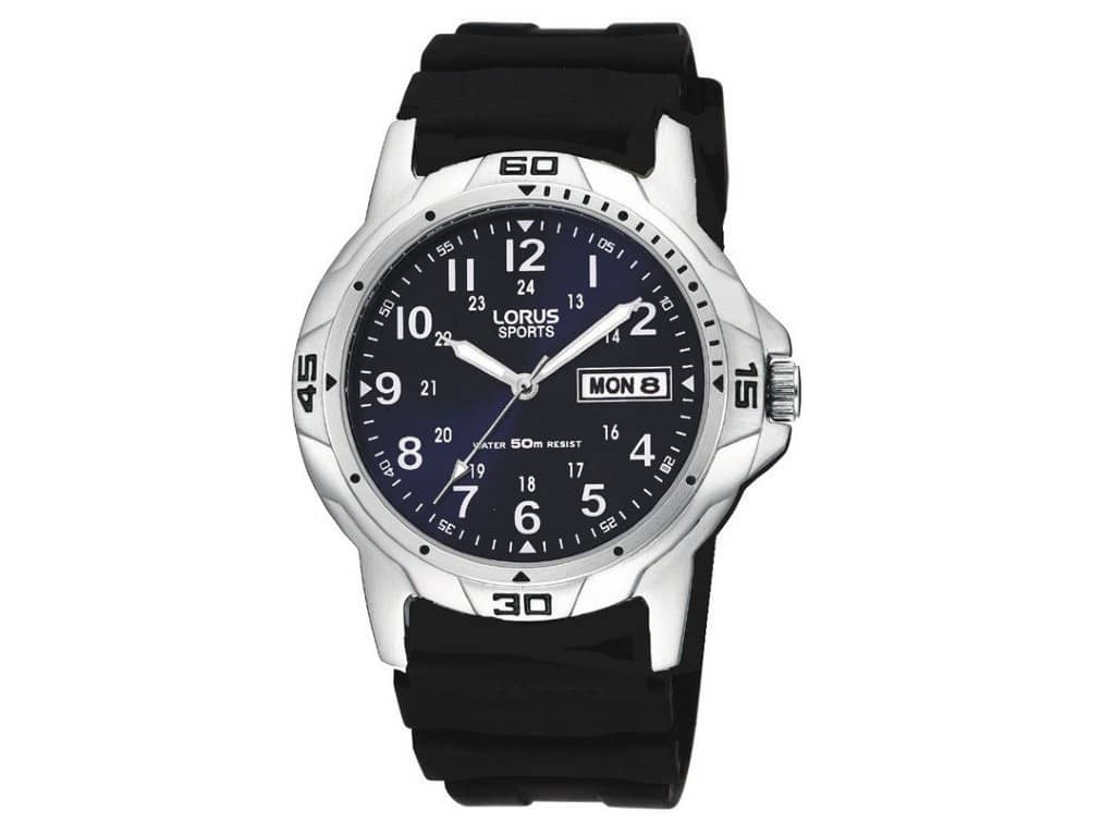 Lorus Men's Blue Face Watch - Model RXN51BX Watches Lorus