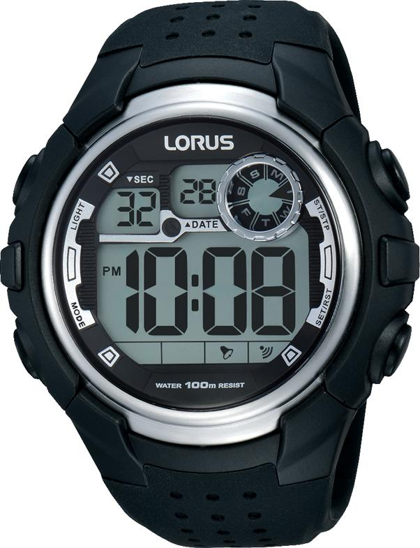 Lorus Men's Digital Black Watch R2385KX-9 Watches Lorus