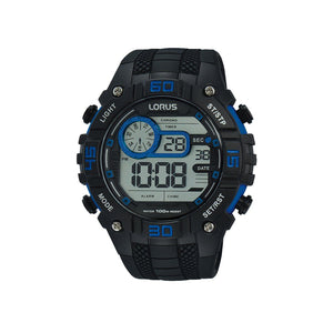Lorus Men's Digital Blue & Black Watch R2353LX-9