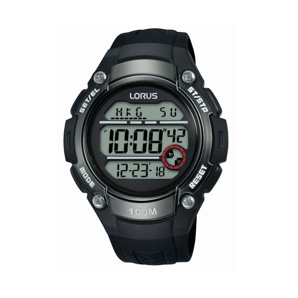 Lorus Mens Digital Black Watch R2327MX-9 Watches Lorus