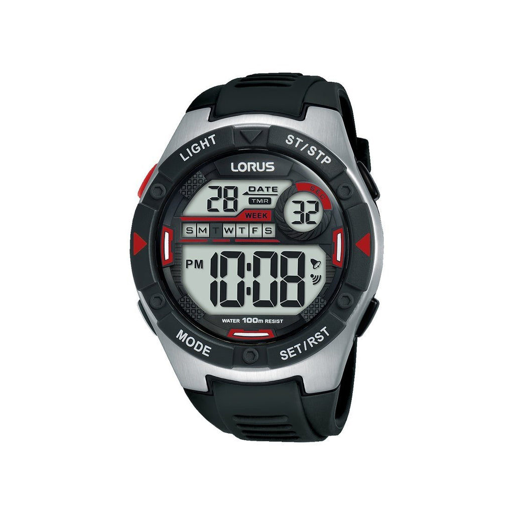 Lorus Black Digital Watch R2393MX-9