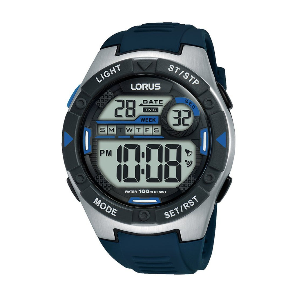 Lorus Blue Black Digital Watch R2395MX-9 Watches Lorus