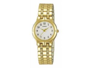 Lorus Ladies Gold Bracelet Watch - Model RRS12BX-9