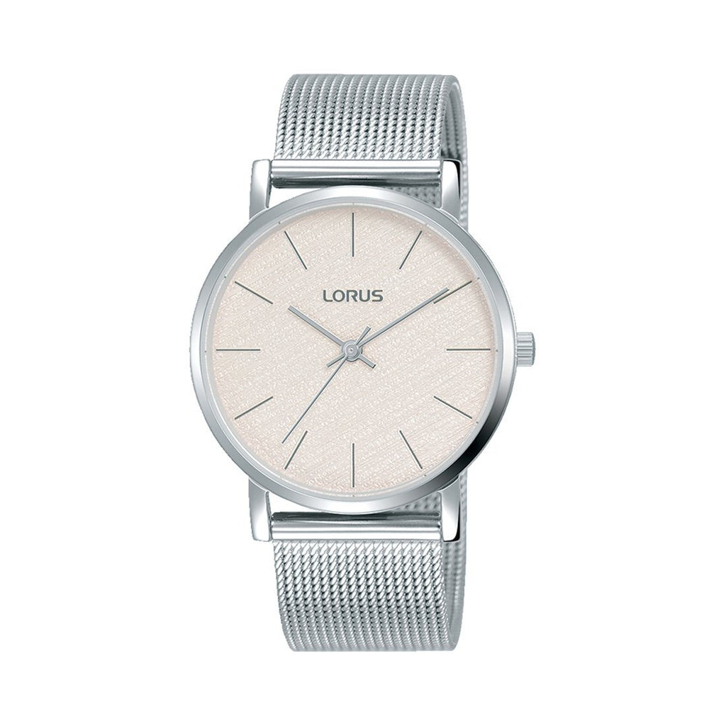 Lorus Ladies White Silver Watch RG209QX-9