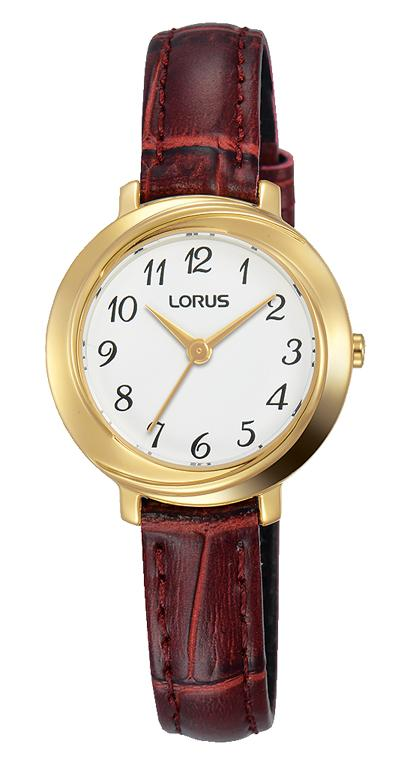 LORUS LADIES GOLD CASE BROWN LEATHER BAND Watches Lorus