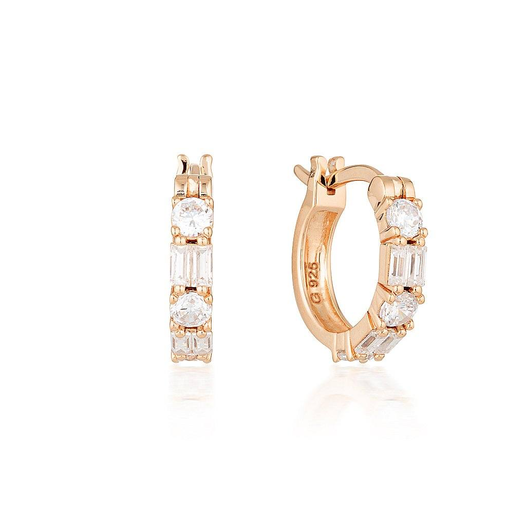 IRINA SMALL ROSE GOLD HOOP Bevilles Jewellers