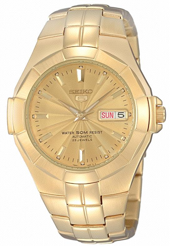 Seiko Mens Gold Watch Model- SNZE32K1