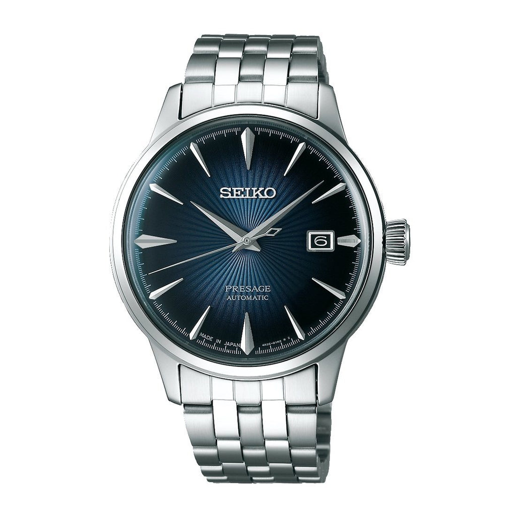 Seiko Presage Automatic Blue Face Mens Watch Model SRPB41J Watches Seiko