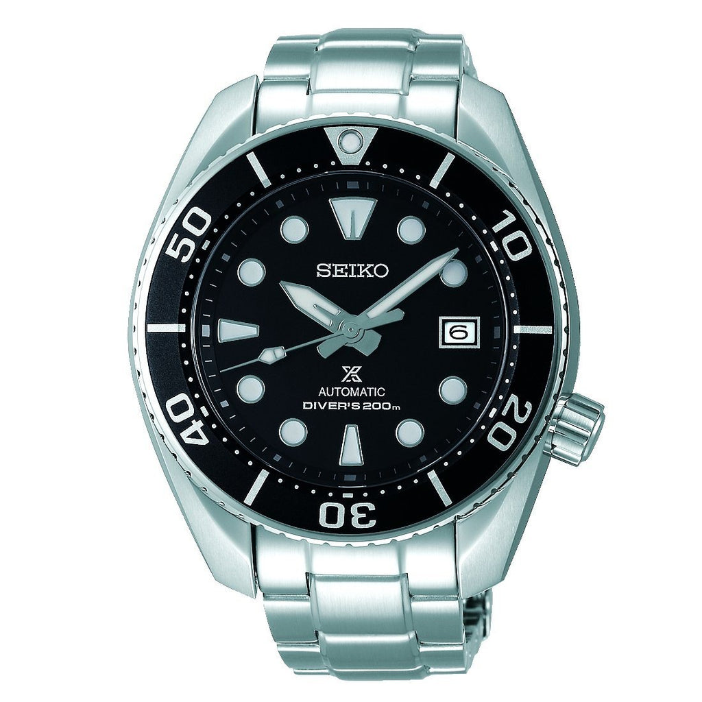 Seiko Prospex Gents Black Divers Watch SPB101J