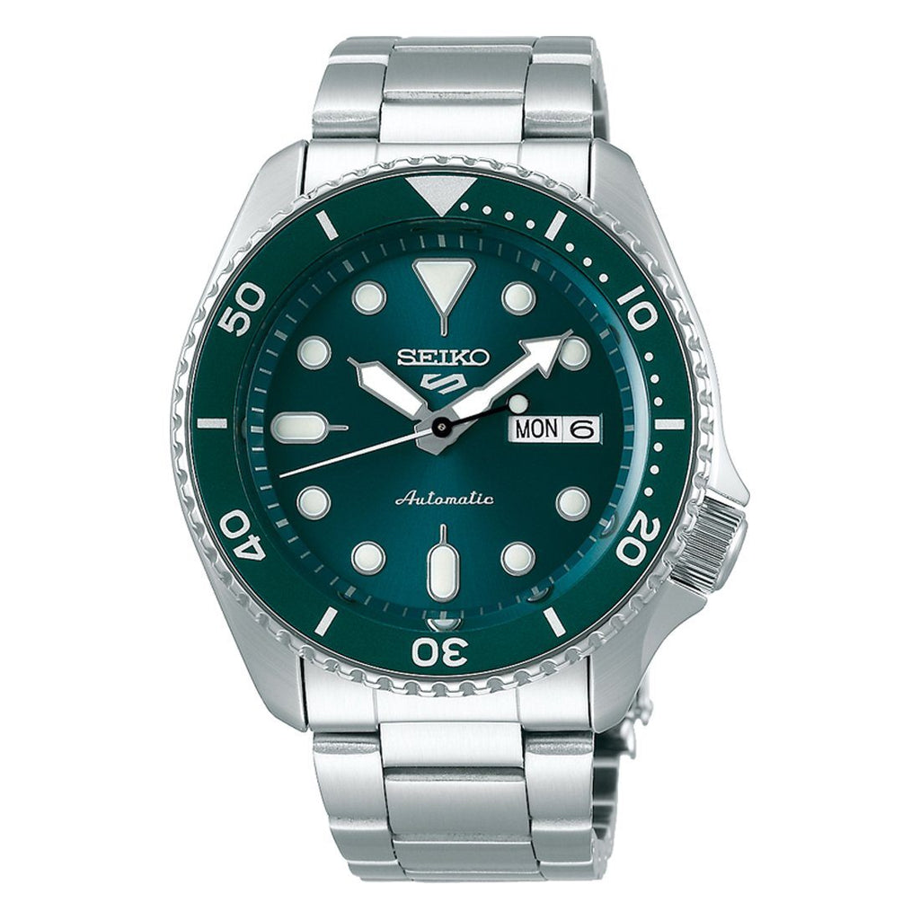 Seiko Automatic Green & Silver Watch SRPD61 Watches Seiko