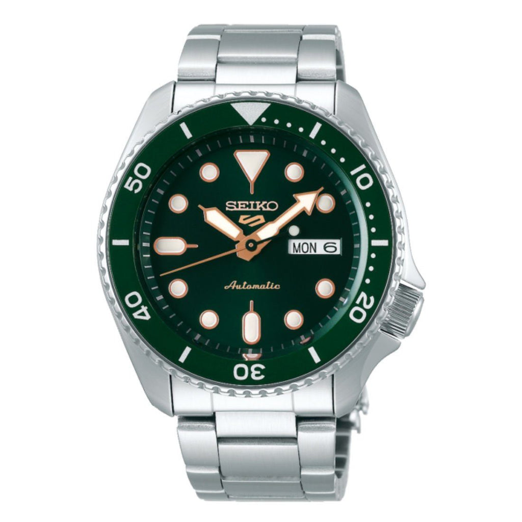 Seiko Automatic Green Face Men's Watch SRPD63 Watches Seiko