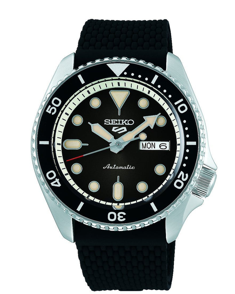 Seiko 5 Sports Mens Automatic Black Watch SRPD73K