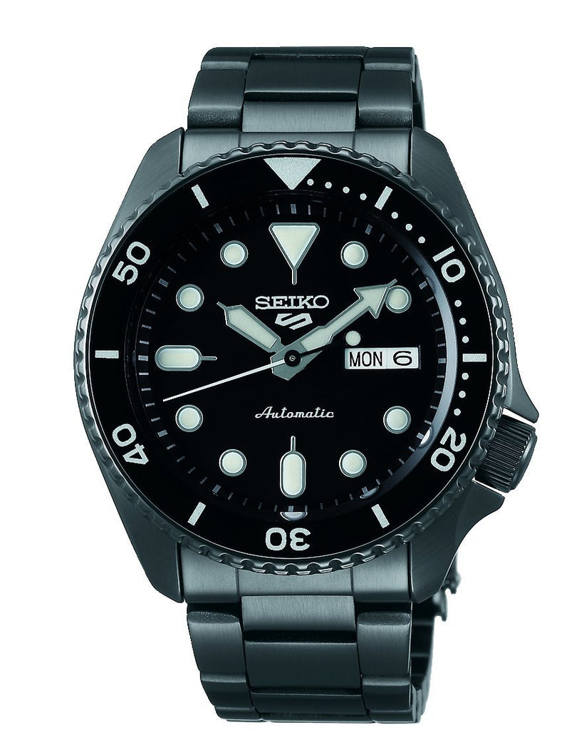 Seiko 5 Sports Mens Automatic Black Watch SRPD65K