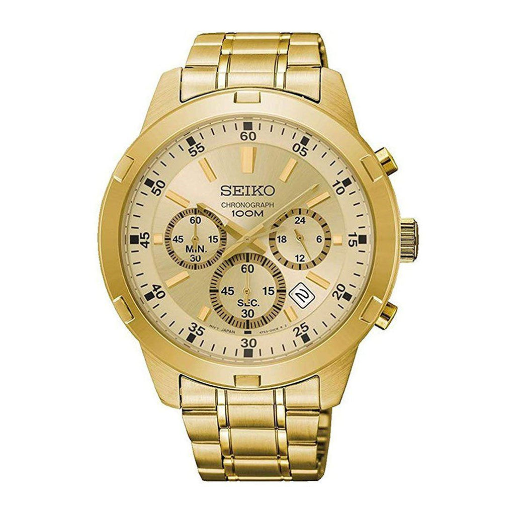 Seiko Men's Gold Chronograph Stainless Steel Watch SKS610P Watches Seiko