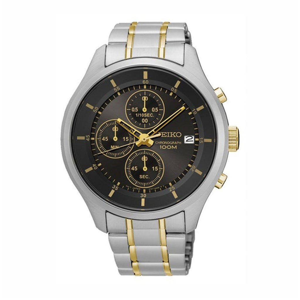 Seiko Men's Two Tone Stainless Steel Chronograph Watch SKS543P Watches Seiko
