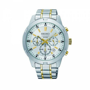 Seiko Men's Two Tone Chronograph Stainless Steel Watch