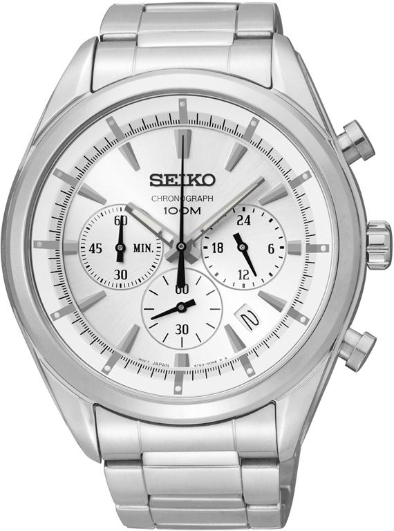 Seiko Mens Silver Chronograph Watch SSB085P