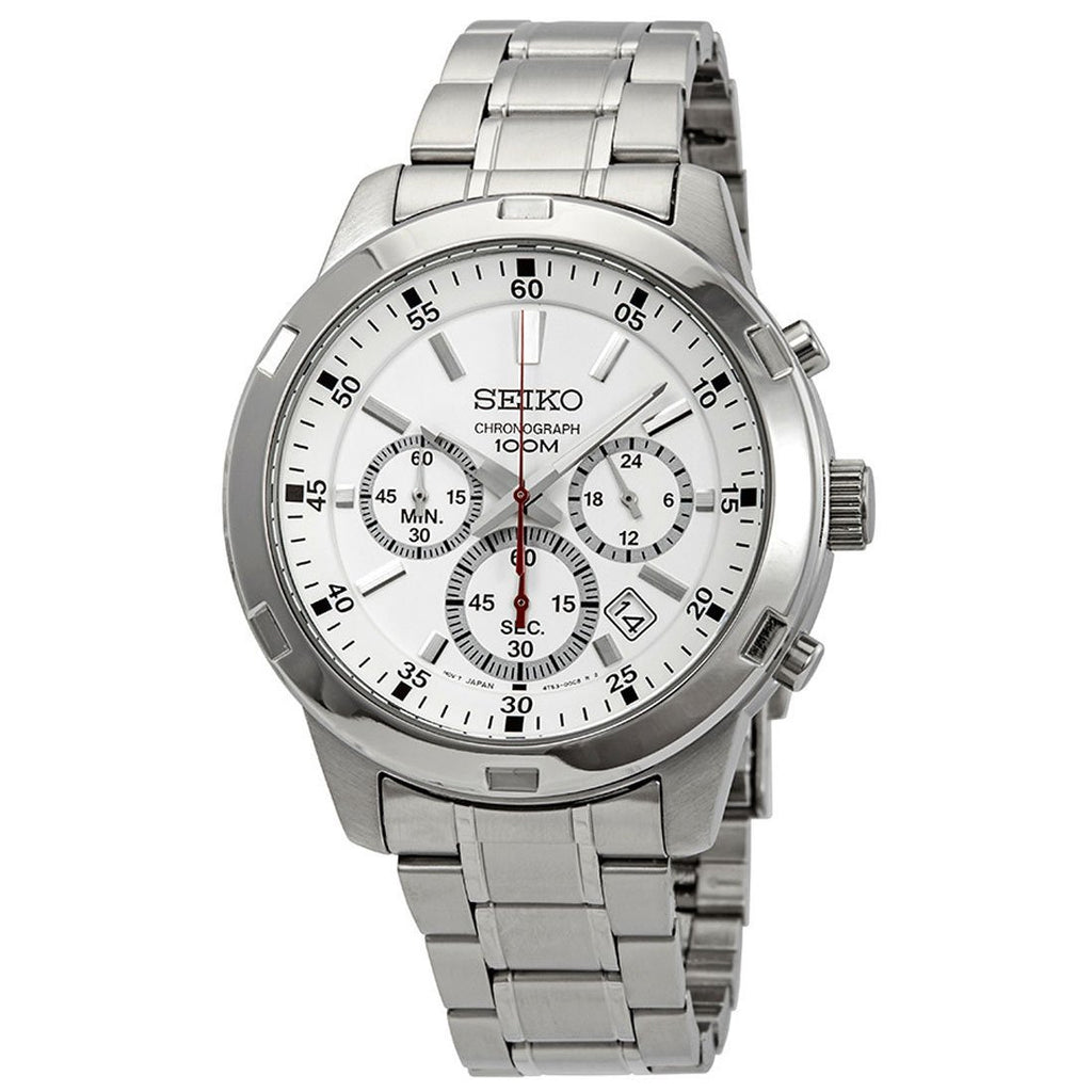 Seiko Men's Silver Chronograph Watch SKS601P Watches Seiko