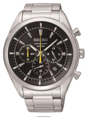 Seiko Mens Chronograph Silver Watch SSB087P