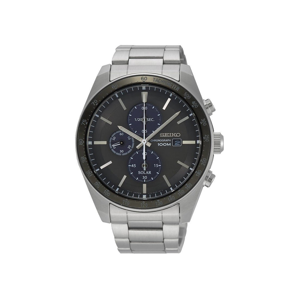 Seiko Men's Silver Chronograph Watch Model SSC715P1