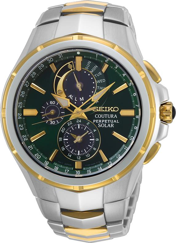 Seiko Gents Coutura Chrono Perpetual Solar Watch Model SSC764P Watches Seiko
