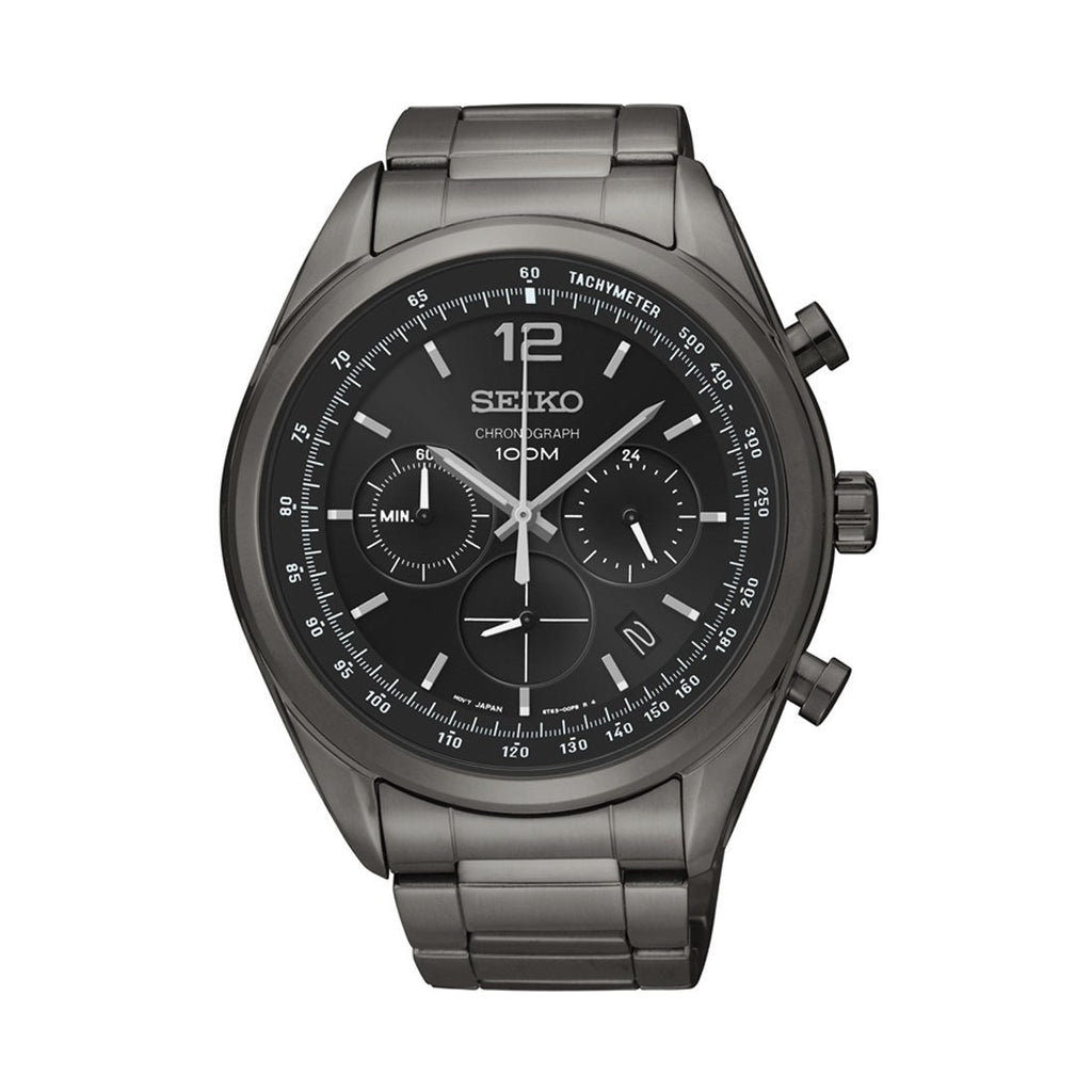 Seiko Chronograph Black Watch SSB093P Watches Seiko