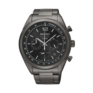 Seiko Chronograph Black Watch SSB093P
