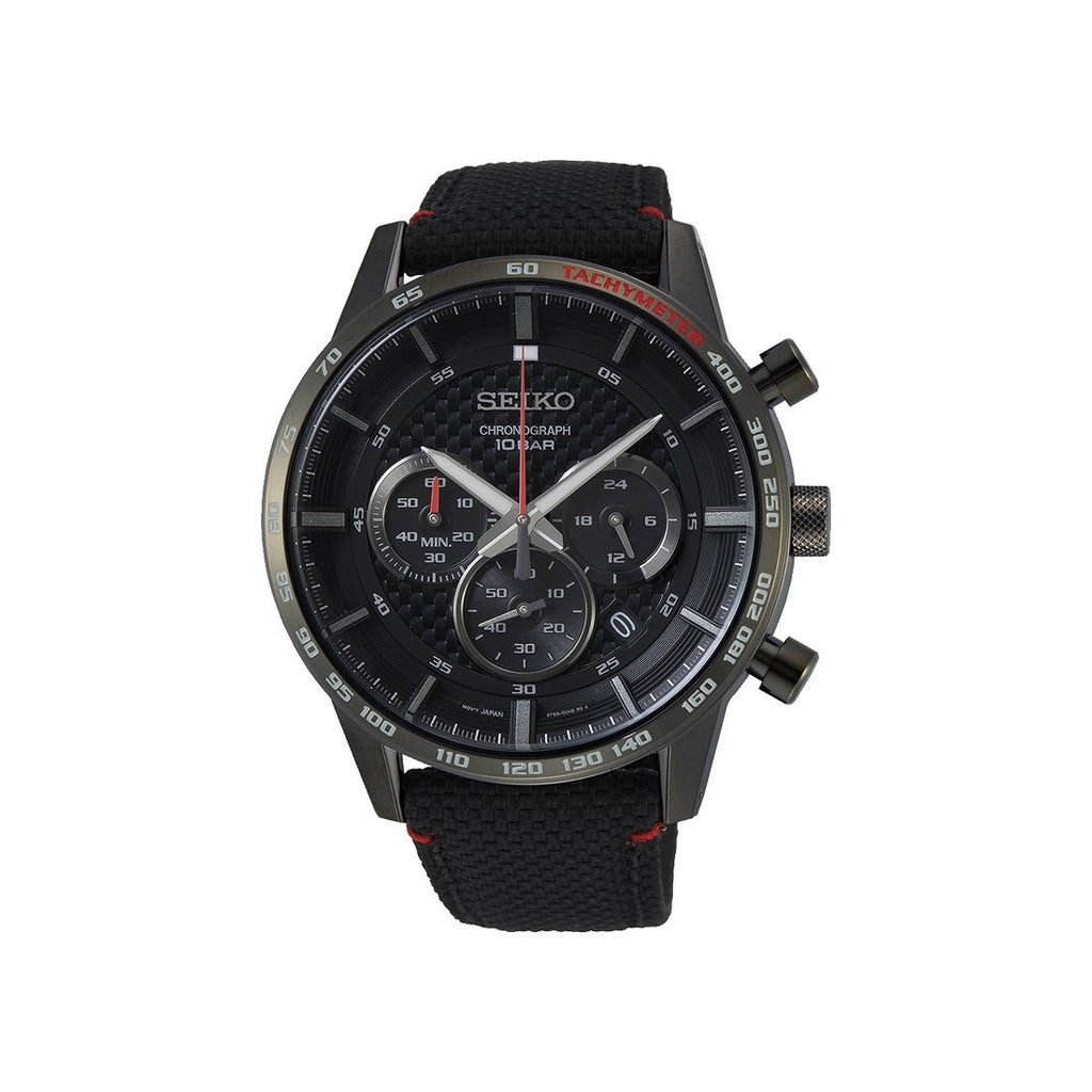 Seiko Chrono Solar Black Watch SSB359P Watches Seiko