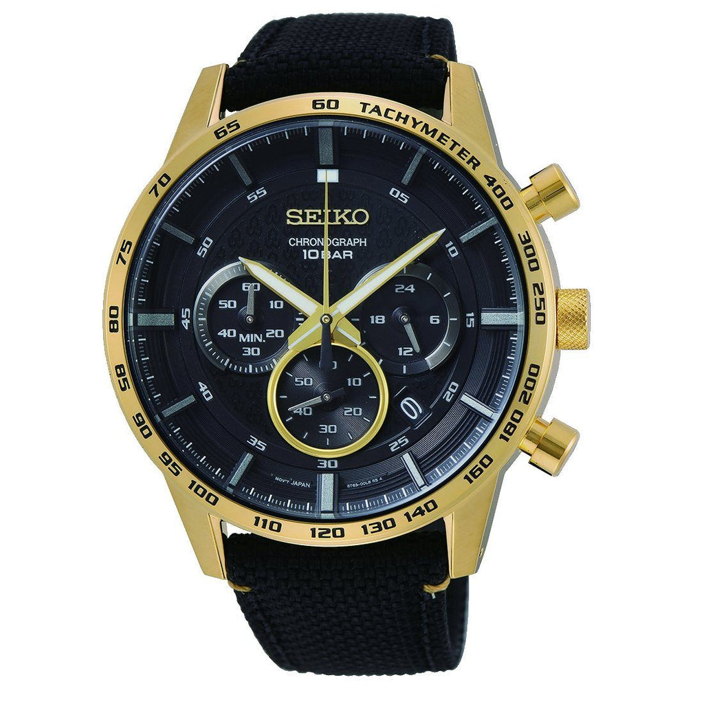 Seiko Chrono Black Gold Watch SSB364P