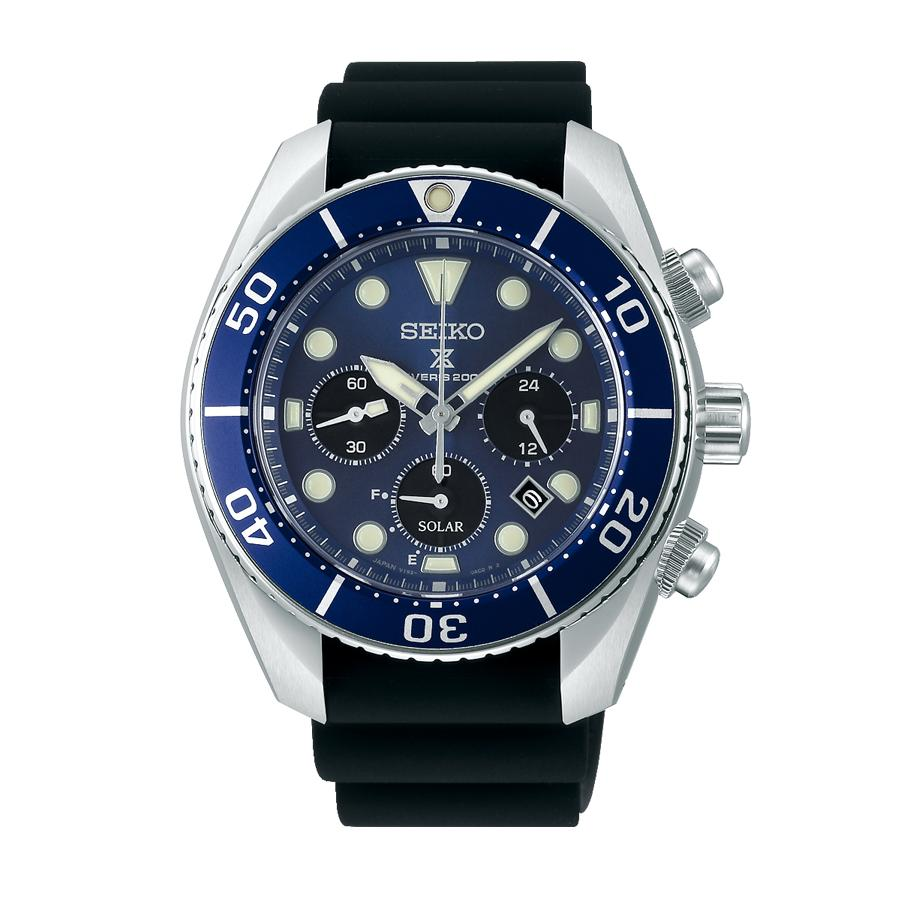 Seiko Mens Prospex Solar Divers Blue Watch SSC759J