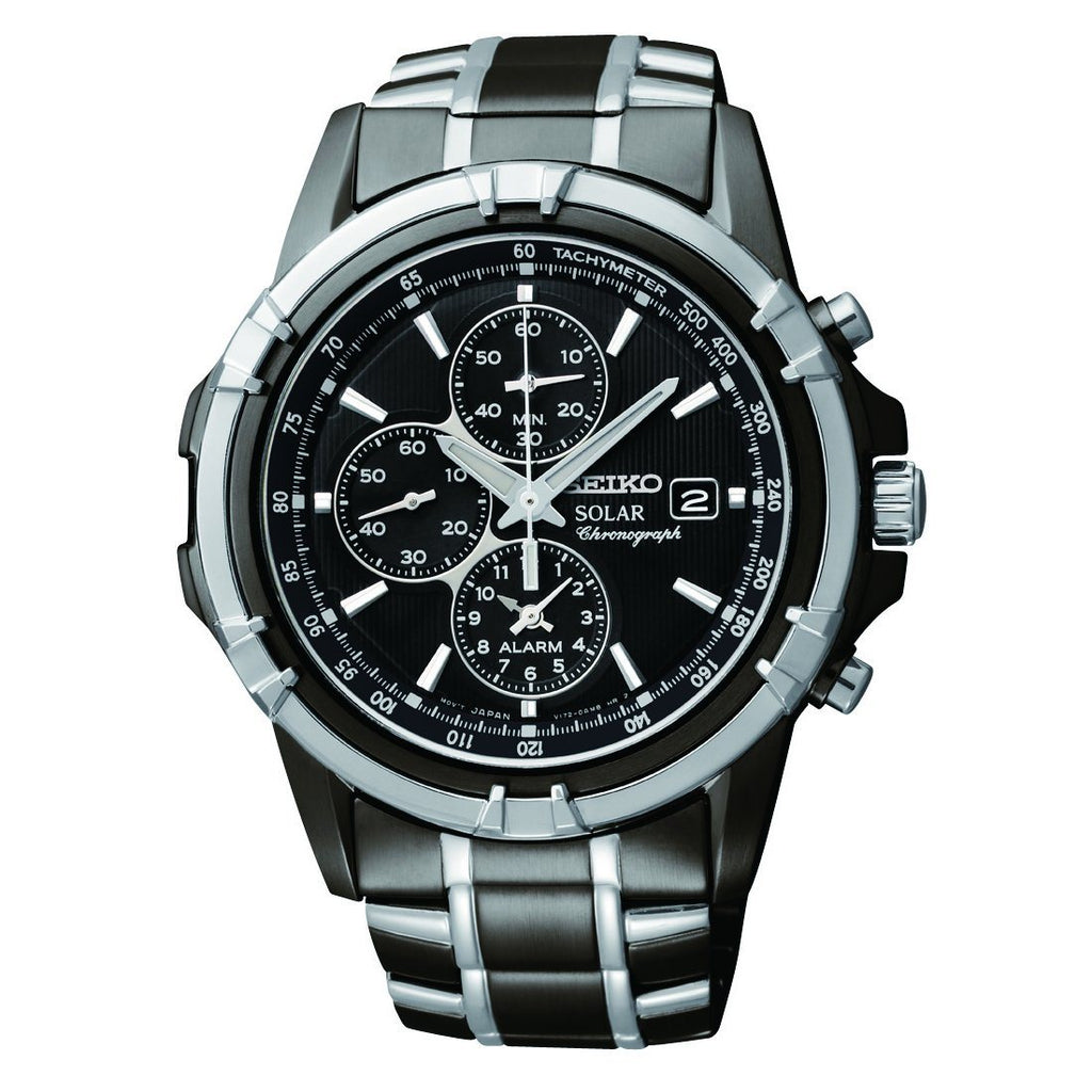 Seiko Men's Solar Chronograph Watch Watches Seiko