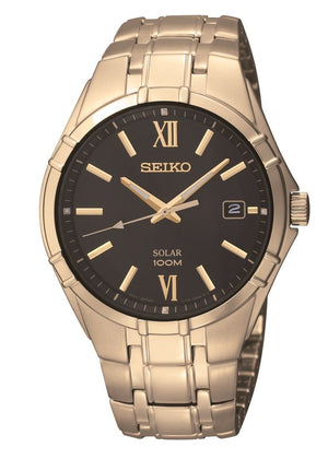 Seiko Men' Solar Gold Watch