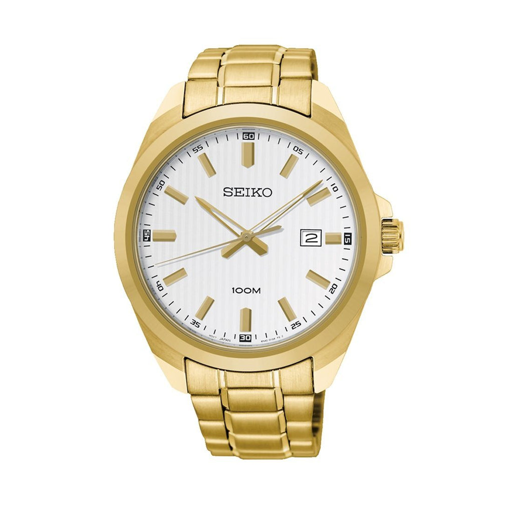 Seiko Mens Gold Watch SUR280P