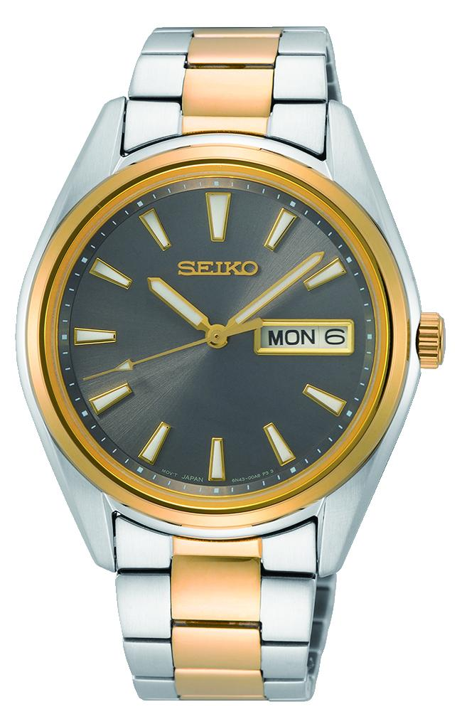 Seiko 2 Tone Silver and Gold Men's Watch SUR348P Watches Seiko