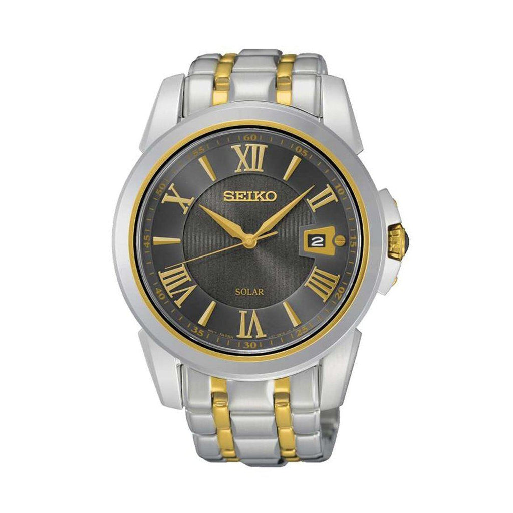 Seiko Mens Two Tone Watch SNE398