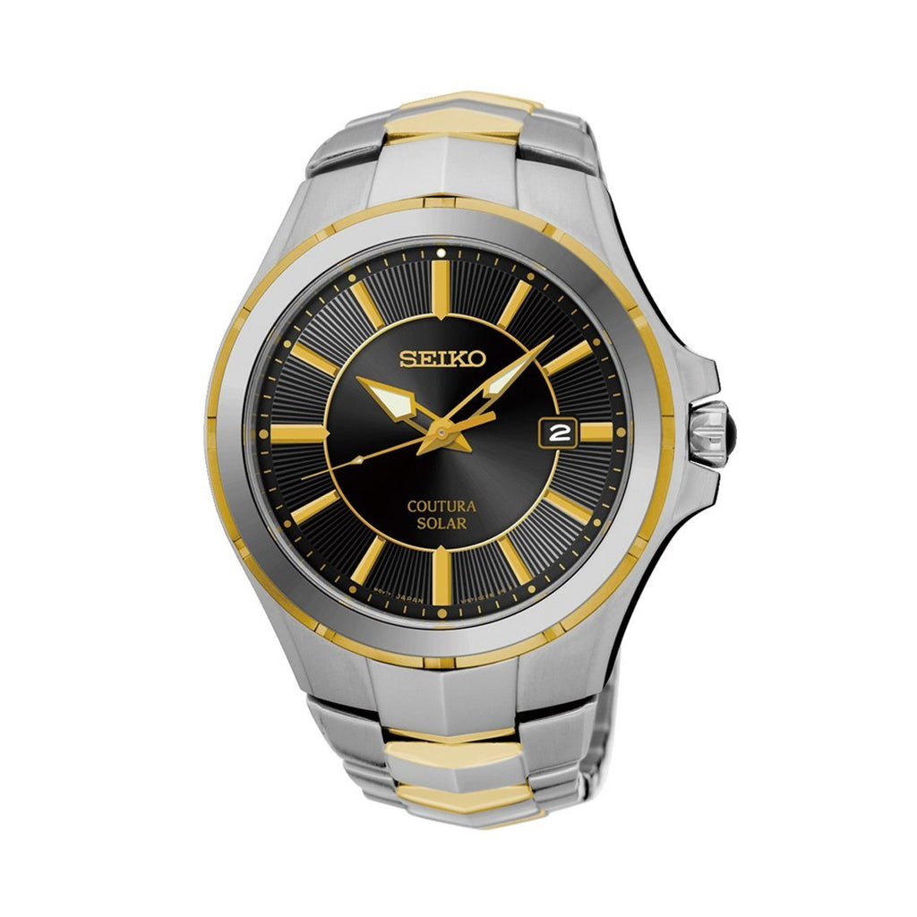 Seiko Coutura Solar Two Tone Watch SNE412P-9
