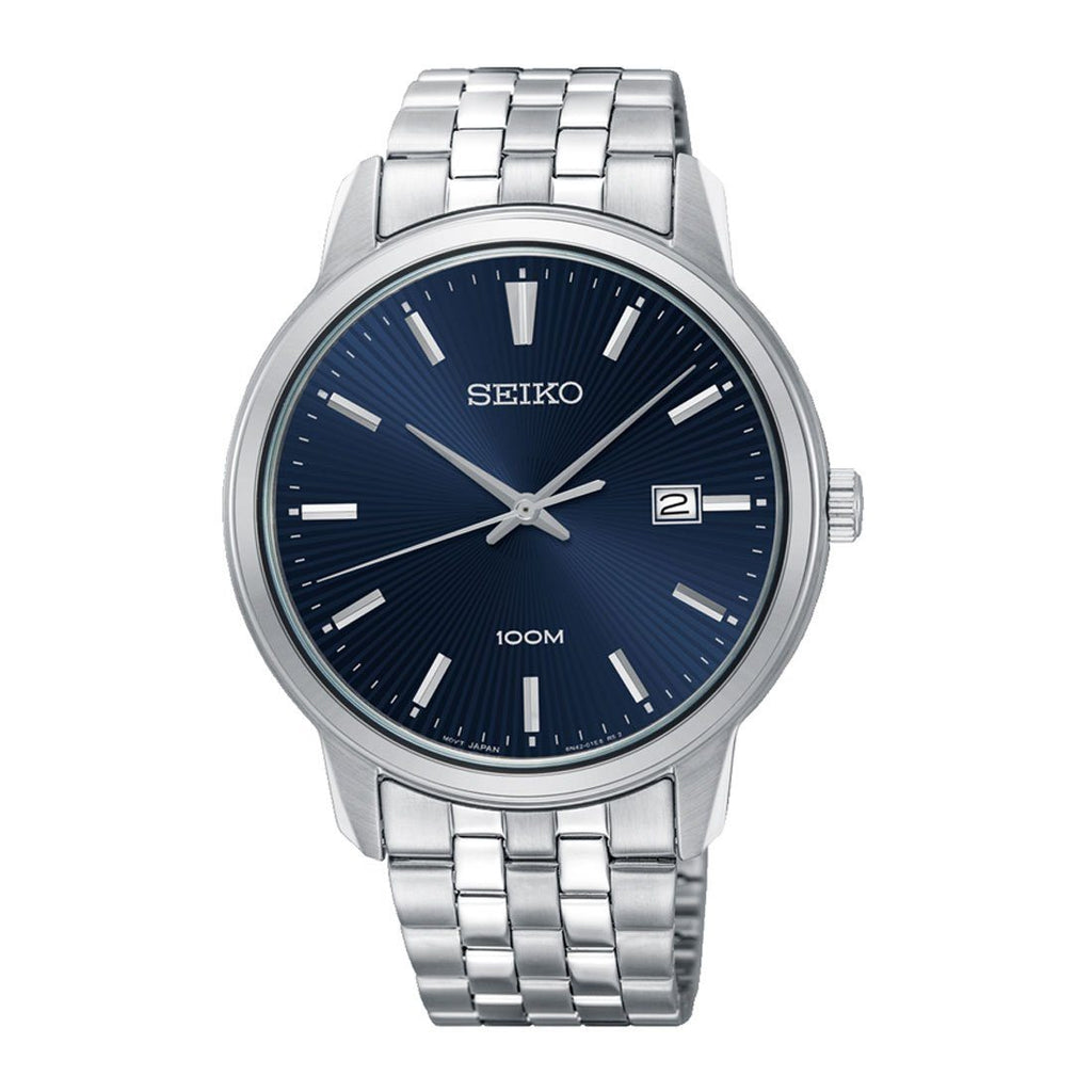 Seiko Men's Blue Face Stainless Steel Band Watch SUR259P Watches Seiko