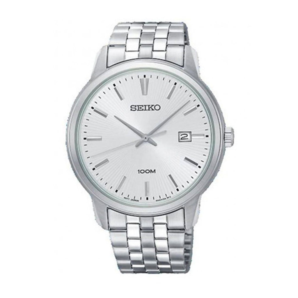 Seiko Men's Silver Stainless Steel Watch SUR257P Watches Seiko