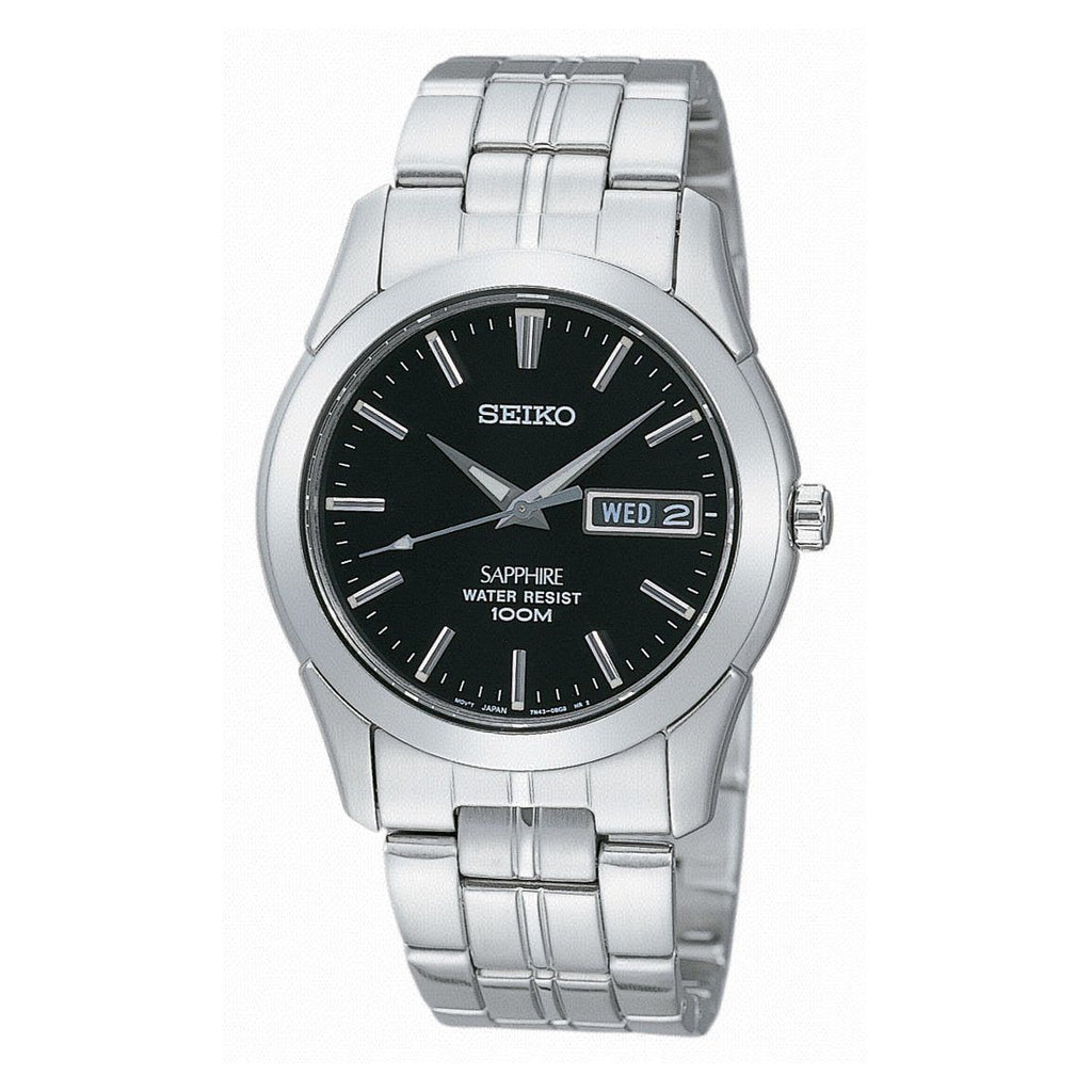 Seiko Men's Sapphire Glass Silver Stainless-Steel Watch SGG715P Watches Seiko