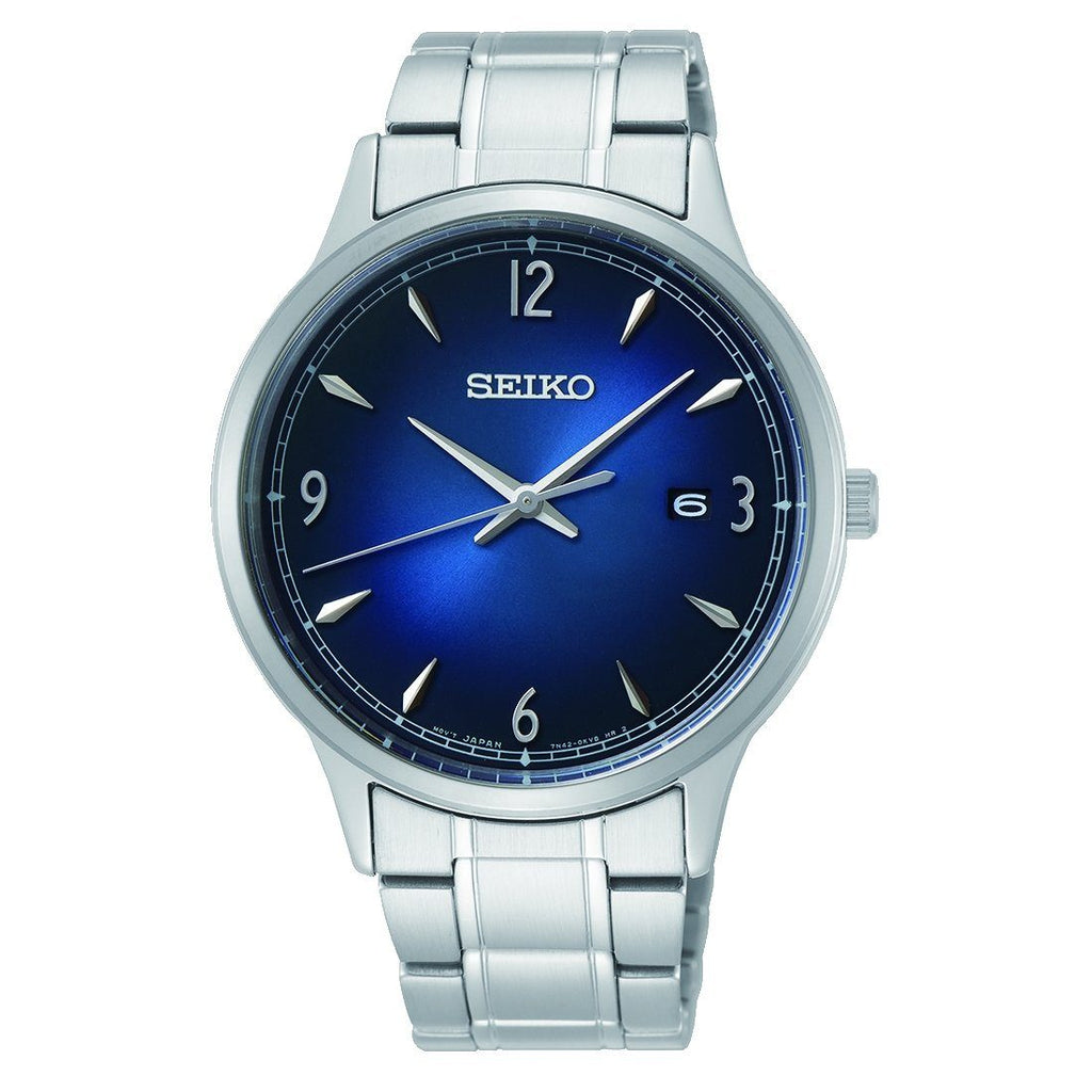 Seiko Gents Blue Stainless Steel Watch SGEH89P