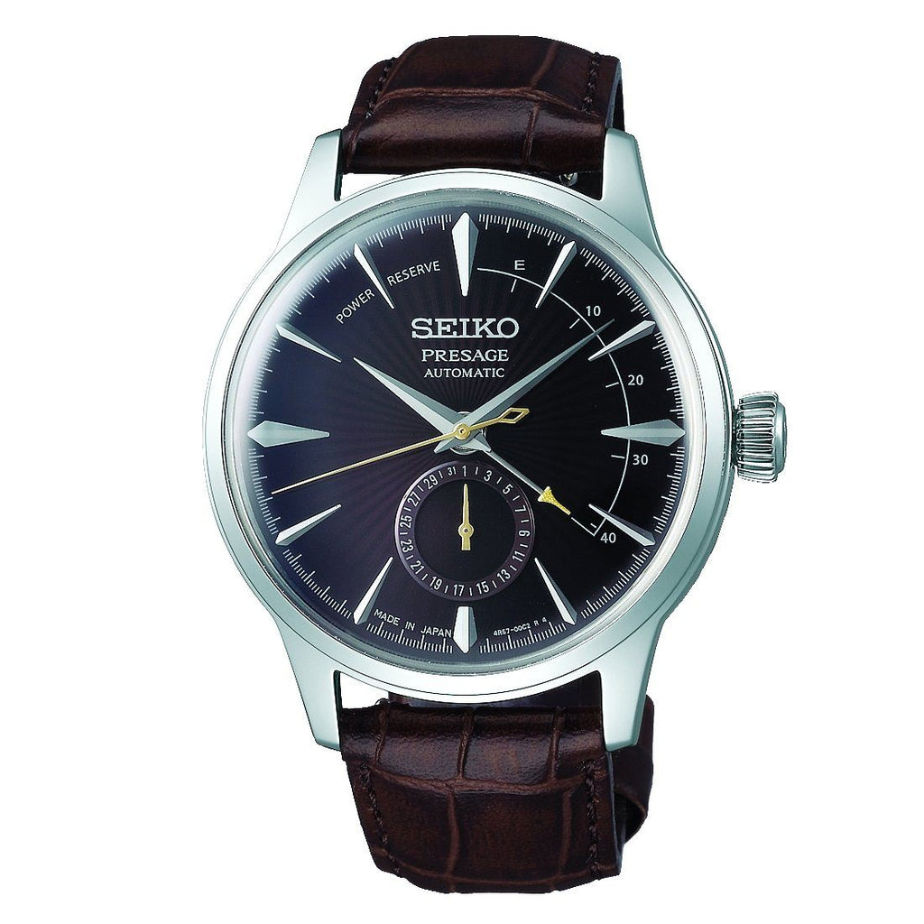 Seiko Gents Black Presage Watch SSA393J