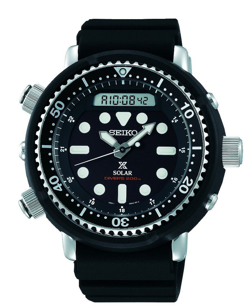 Seiko Mens Prospex Solar Black Watch SNJ025P Watches Seiko