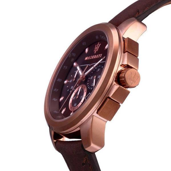 Maserati SUCCESSO 44mm Brown Watch Watches Maserati