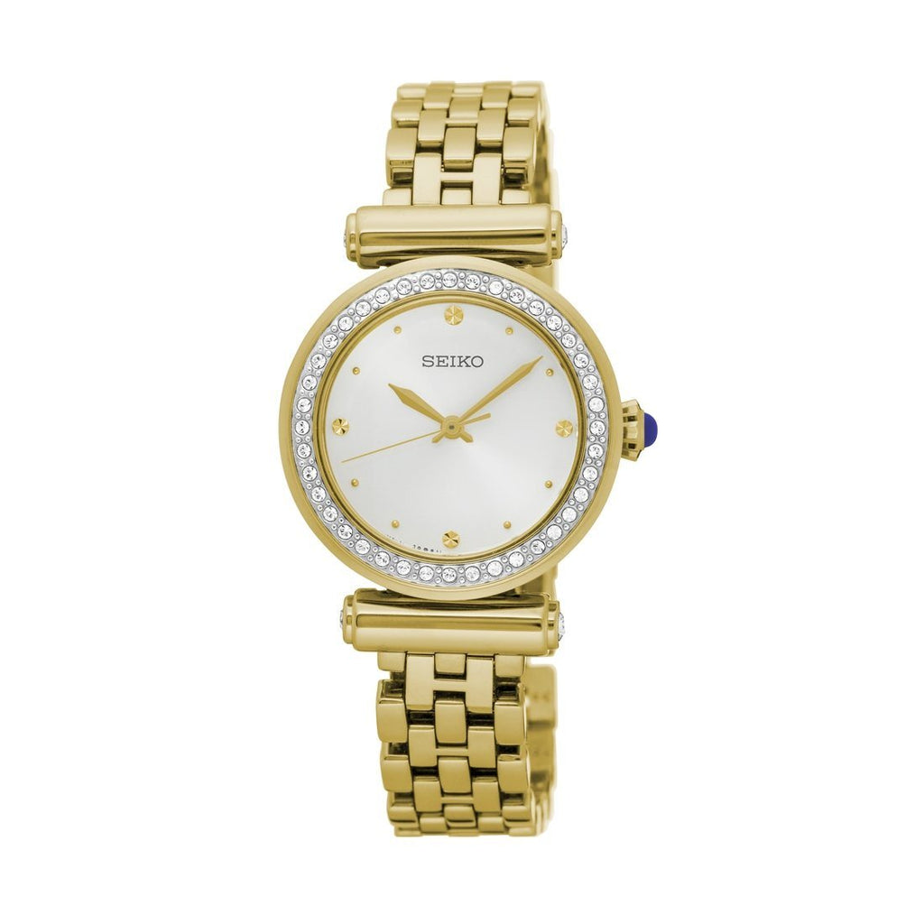 Seiko Ladies Crystal Set Gold Watch SRZ468P