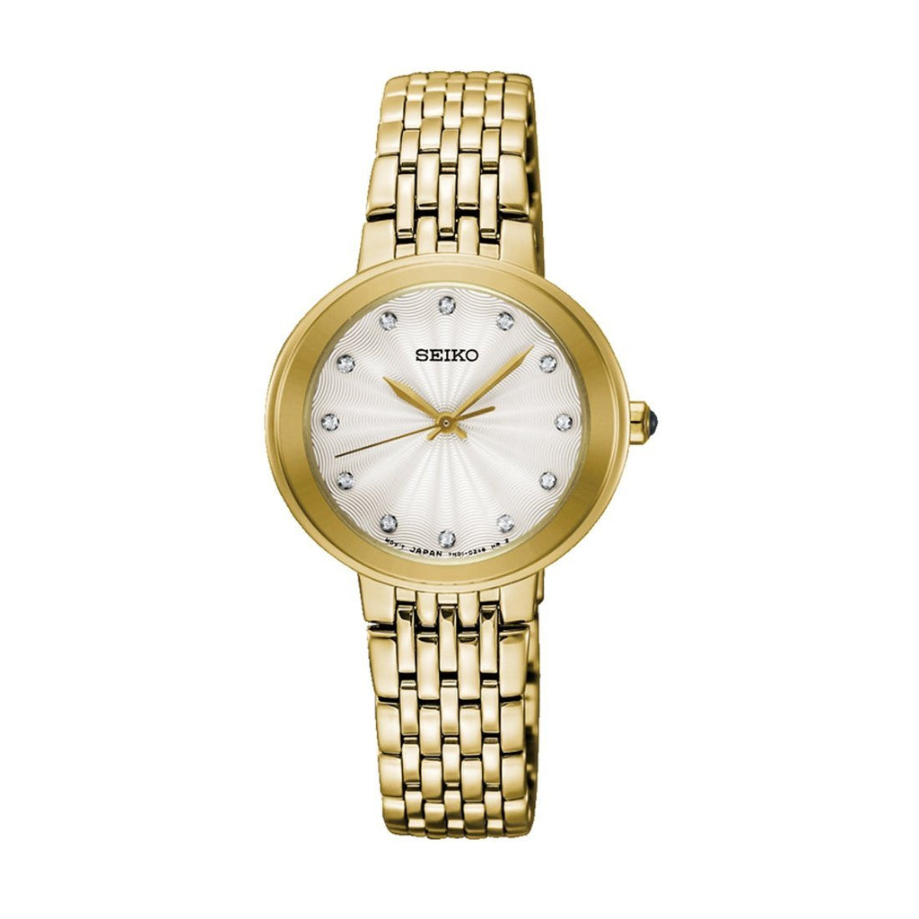 Seiko Ladies Swarovski Crystal Face Watch Model SRZ504P