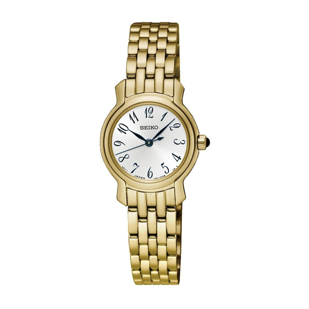Seiko Ladies Gold Tone Stainless-Steel Watch Model SXGP64P